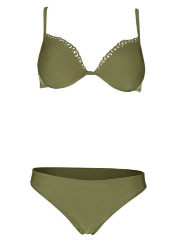 KP 89,90 € SALE/%/%/% Khaki Heine Push-up-Bikini NEU!! Cup C