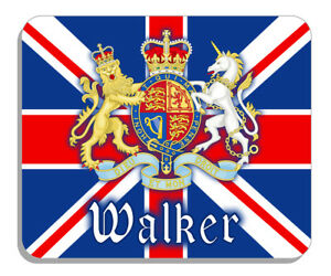 """British Flag Union Jack Coat Of Arm Mouse Pad Personalize Text-Name England 1/4"""""""