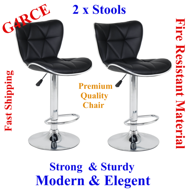 Awe Inspiring 2 X Quality Galaxy Style Faux Leather Breakfast Kitchen Pub Swivel Chairs Stools Forskolin Free Trial Chair Design Images Forskolin Free Trialorg