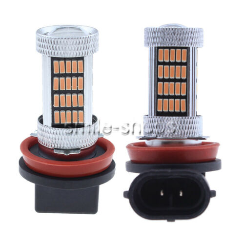 H11 H8 H9 4014 92SMD LED Fog Lamp Bulb Conversion Kit Upgrade 14000K Pink Purple