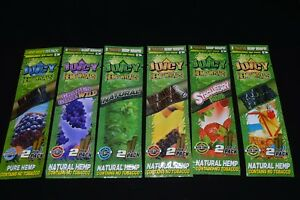 Juicy Jay's Hemp Wraps - 7 FLAVORS!! - 2 Per Pack - PICK ANY 5 FLAVORS