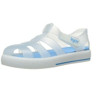 9d582b456892 NWT IGOR Boy s Tenis Jelly Sandals Shoes Toddler Kids White ...