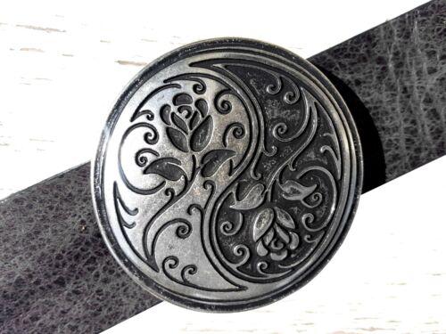 Yin Yang adorno en la cintura taijit caracteres chinos cambio ornament hebilla 4cm