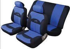 FUJI UNIVERSALE SET COMPLETO Proteggi Sedile Copre Blu & Nero liscio imbottito in tessuto