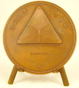 Medal-Floralies-International-de-Paris-1964-Sc-Raymond-Joly-68-mm-Medal