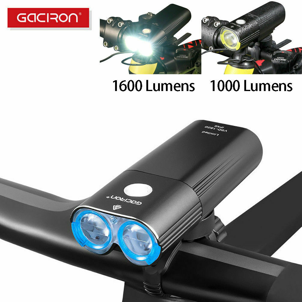 GACIRON Cycling Front Head Light USB Rechargeable Bicycle Waterproof Light Lamp