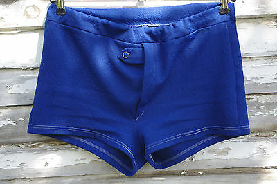Intellektuell True Vintage Badehose 70er Royal Blau Shorts Swimming Trunks 70s Royalblue 80er