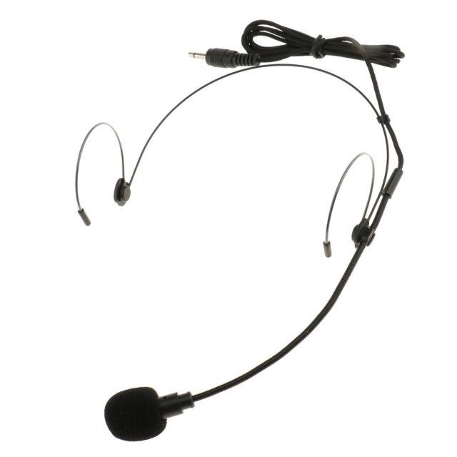 Professionelles schwarzes Doppel Ohrbügel Mikrofon 3,5 mm Klinkenbuchse