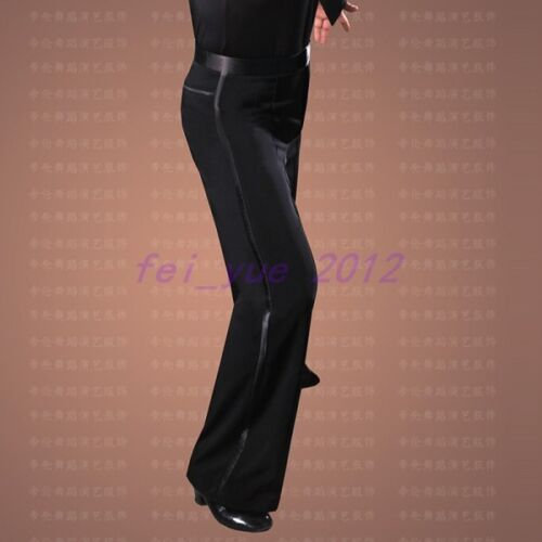 Da Uomo sala da ballo latino danza moderna Pantaloni Costume Loose Fit Gamba Larga Pantaloni Lunghi