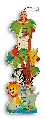 Kids Height Chart Wooden Jungle Animals Theme Nursery Baby Room Decoration New Ebay