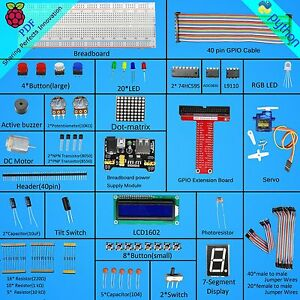 Adeept-Super-Starter-Kit-for-Raspberry-Pi-3-Pi-2-model-B-B-Python-LCD1602