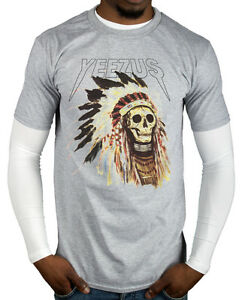 Yeezus-Red-Indian-Skull-New-T-Shirt-God-Wants-You-Tour-Yeezy-Kanye-Tee