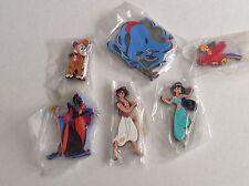 Rare Disney ALADDIN Jasmine Jafar Abu Iago Rubber Magnet Set 6 DisneyanaShopper