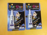 2 Star Eyelash Glue Dark Adhesive 1/4 Oz - Free Ship