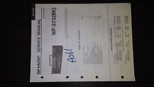 sharp wf-372 bk Service Manual Original Repair book boombox ghettoblaster tape