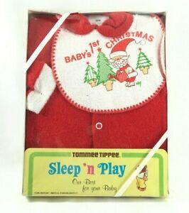 9a90839baf7c Vintage Tommee Tippee Sleep  n Play Baby s 1st Christmas Sleeper Sz ...