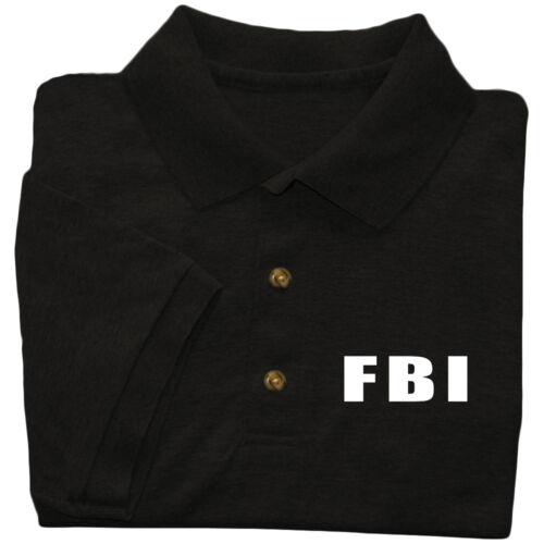 FBI polo shirt for men fbi design front chest print collared uniform costume