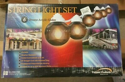 Polymer Camper Awning RV Patio Party Globe String Lights ...