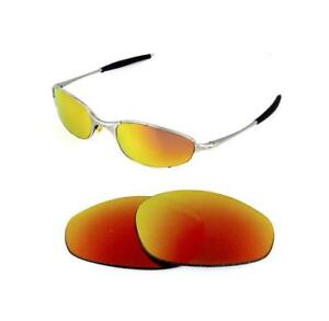 c7d57dfbc9f NEW POLARIZED CUSTOM FIRE RED LENS FOR OAKLEY A WIRE SUNGLASSES ...
