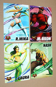 4-x-Street-Fighter-V-Promo-Cards-Character-Card-R-Mika-M-Bison-Nash-Laura