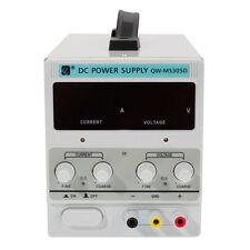 DC Power Supply 30V 5A EU 220V|Adjustable Precision|Dual LED Display w/Clip Cord