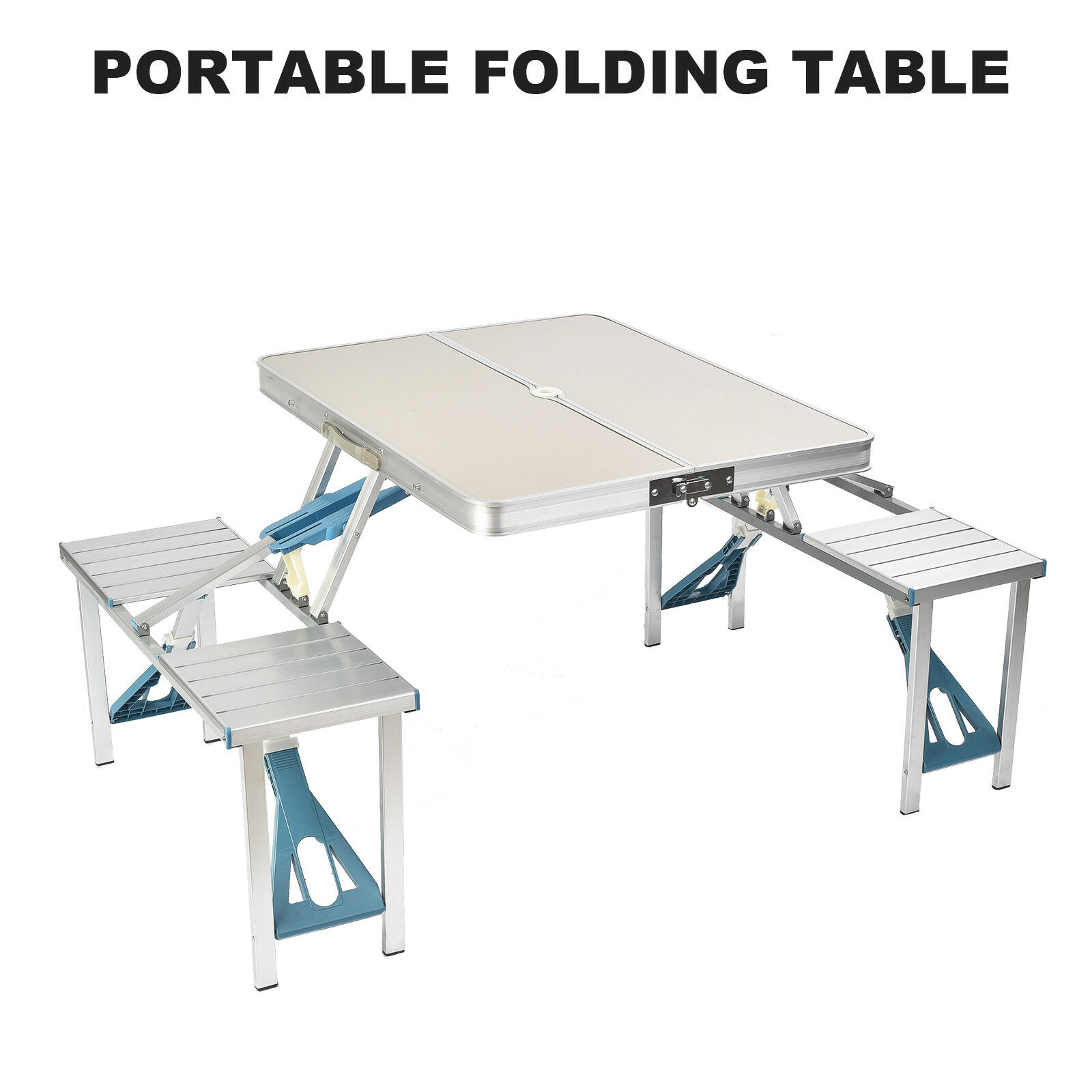Portable Folding Camping Picnic Table Chair Set for Garden BBQ Party Outdoor