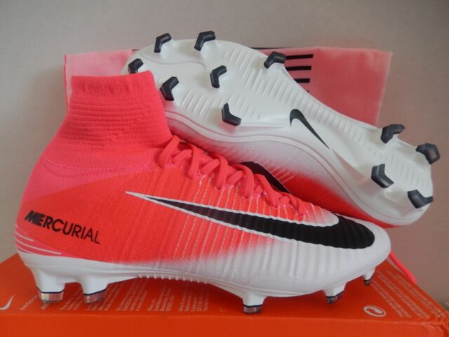 1e9c2f7e0 Nike Mercurial Superfly FG Pink and White Cr7 Soccer Cleats Football ...