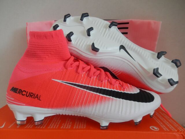 Nike Mercurial Superfly FG Pink and White Cr7 Soccer Cleats Football ... 8c63001326
