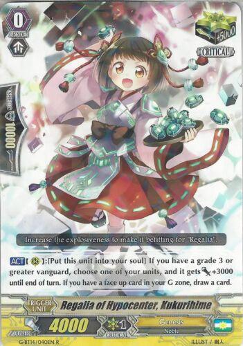 G-BT14//040EN R Regalia Of Hypercenter Cardfight Vanguard Card Kukurihime
