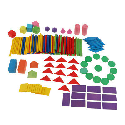 Plastic Geometric Shapes Blocks Number Counting Sticks Math Toy for Kids |  eBay