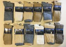 12 Pairs Unisex Mens Womens Cotton Assorted Crew Socks NEW
