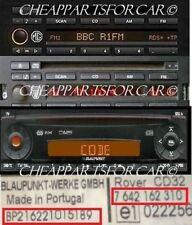 ROVER MG RADIO decodifica di codice per Blaupunkt Radio leggere descrizione CD32 CD43