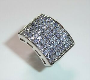 Ring-925-Silber-70-Tansanite-3-5-ct-RG-53-17-mm-imposant-breit-NEU
