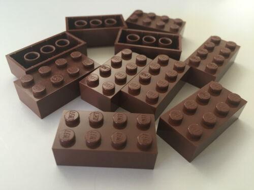 *NEW* 40 Pieces Lego BRICK 2X4 REDDISH BROWN