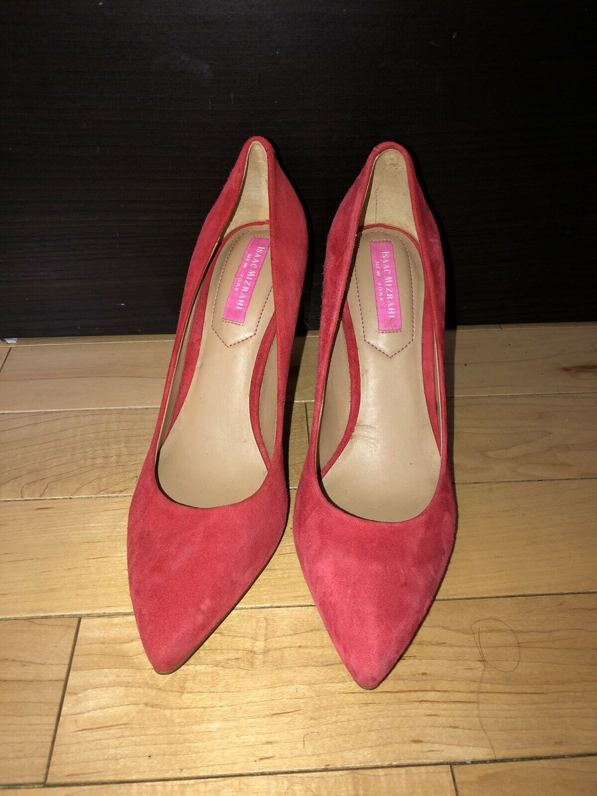 New Women's Isaac Mizrahi Coral Suede Pumps Size  US 6.5