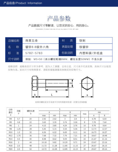 Bolt M27*50.70.90.140.150.180 High Strength Grade 8.8 External Hexagonal Screw
