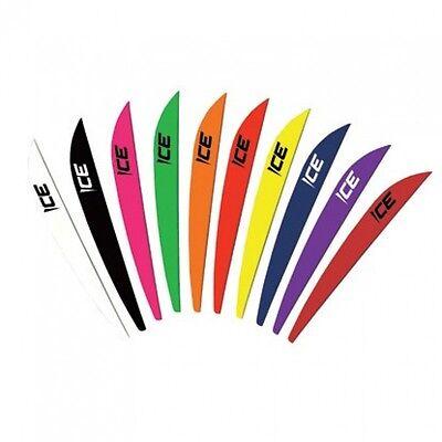 "Bohning Ice 3/"" Archery Plastic Arrow Vanes Qty 12"