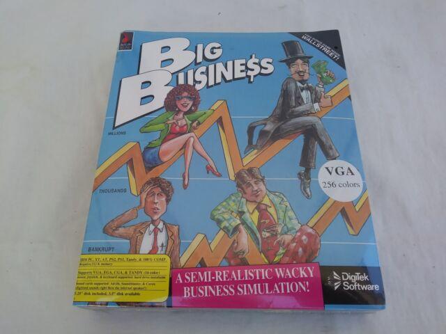 "Big Business + Wallstreet Vintage DigiTek PC 5.25"" Disk Game Rare New Sealed Box"