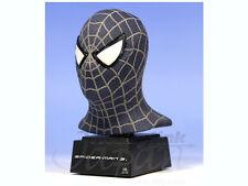 "Marvel Comics Master Replicas BLACK SPIDERMAN 3 6"" Mini bust statue figure RARE"