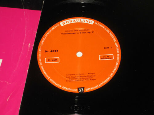 LP/BEETHOVEN/BORRIES/RIEGER/VIOLINKONZERT/DONAULAND 4028 *