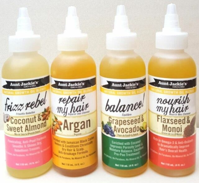 Aunt Jackie's Natural Growth Oil Blends** FULL RANGE**118ml - 4 oz