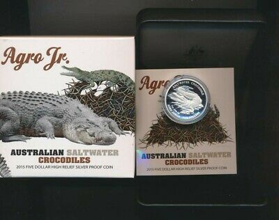 Australian Saltwater Crocodile 2015 1oz Silver Proof Coin Australia