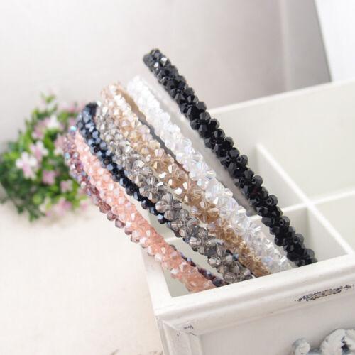 Hot Bead Shine Crystal Diamante Headband Womens Girls Hair Band Hoop Accessories