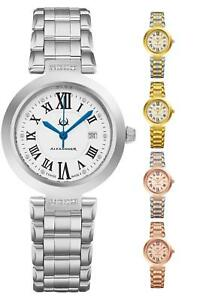 Alexander Ladies Quartz Swiss Made Watch Diamonds In Dial Sapphire Crystal 32mm