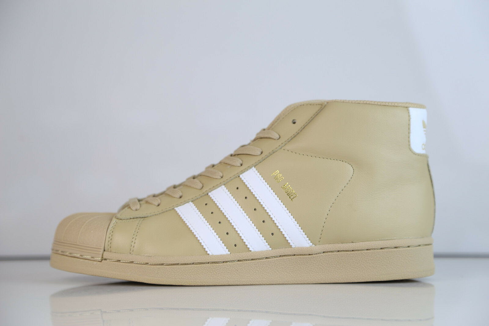 Adidas Khaki Originals Pro Model Linen Khaki Adidas Tan CG5072 8-13 superstar supreme leather 7342f0