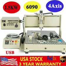 15kw Usb 4axis Cnc 6090 Router Milling Engraving Ball Screws 3d Cutting Engrave