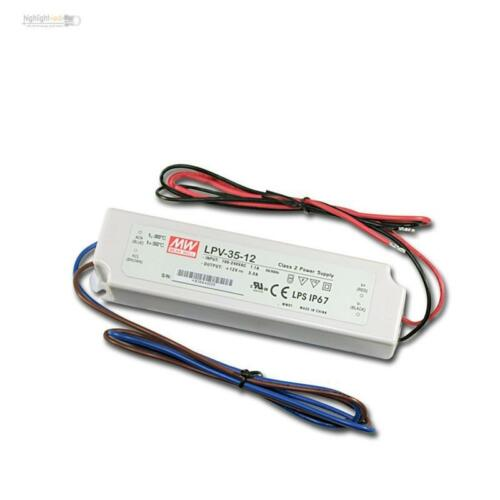 Ip67 LED transformador controlador 12v dc 36w 3a transformador Driver CED zorzal 12 voltios