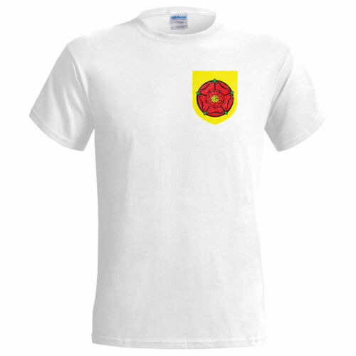 LANCASHIRE COUNTY POCKET BADGE DISTRESSED LOOK MENS T SHIRT CRICKET CUP 20
