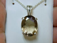 Natural 6.25ct Bolivian Ametrine Pendant Chain 925 Sterling Silver Usa Made