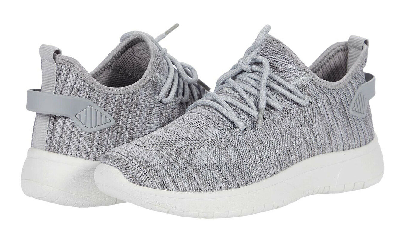 Blondo Waterproof Grey Heathered Kamie Knit Comfy Sneaker Pull On Shoes 9 New
